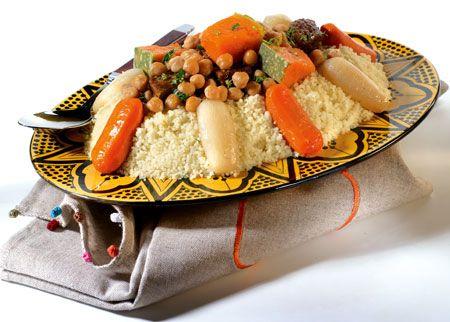 couscous aux légumes Fes Cooking Class